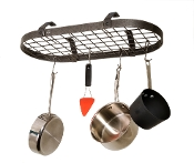 Décor Low Ceiling Oval Hanging Pot Rack