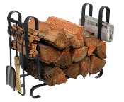Large Modern Log Rack with Tools