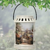 Thomas Kinkade Garden of Prayer 1997 Lantern