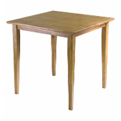Groveland Square Dining Table, Shaker Leg, Light Oak Finish