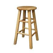 "Set of 2, Square Leg 24"" Stool, Assembled"