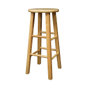 "Set of 2, Square Leg 29"" Stool, Assembled"