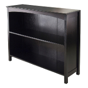 "Terrace Storage Shelf 3-Tier 37"" wide in Espresso"