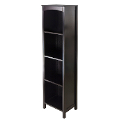 Terrace Storage Shelf 5-Tier in Espresso Finish