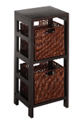 Leo 3pc Shelf and Baskets; One shelf, 2 small Baskets; 2 cartons
