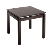 Linea End Table with Chrome Accent