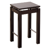 "Linea 23"" Stool with Chrome Accent"