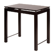 Linea Kitchen Island Table with Chrome Accent