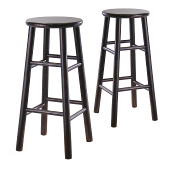 "Set of 2, 30"" Bevel seat stool, Assembled"
