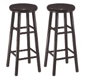 "Set of 2, 30"" Swivel Bar Stool, Assembled"