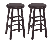 "Set of 2, 24"" Swivel Kitchen Stool, Assembled"