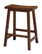 "Saddle Seat 24"" Stool, Single, RTA"