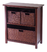 Milan 4pc Cabinet/Shelf with 3 Baskets