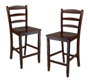 "Set of 2, 24"" Counter Ladder Back Stool"