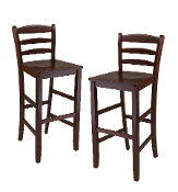 "Set of 2, 29"" Bar Ladder Back Stool"