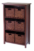 Milan 7-Pc Cabinet/Shelf with Baskets; 6 Small