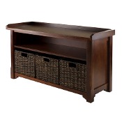 Granville Storage Bench with 3 Foldable Baskets