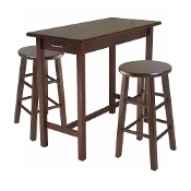 3-Pc Breakfast Table with 2 Square Leg Stools