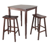 3-Pc Inglewood High/Pub Dining Table with Saddle Stool