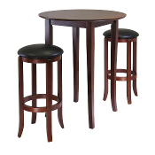 Fiona Round 3-Pc High/Pub Table Set