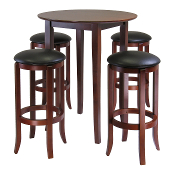 Fiona Round 5pc High/Pub Table Set with PVC Stools