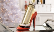 Holiday Themed Stiletto Wine Bottle Holder