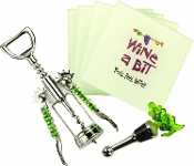 6-Piece Wine Accessory Gift Set, Wine a Bit