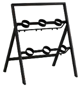 Metal Wine Rack, 6 Bottle