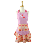Butterfly  Ruffle Adult Sized Apron