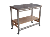 Oasis Concepts The Flip and Fold Stainless Steel Island, X-Large