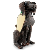 Corky the Dog Single Bottle Holder Metal Wine Display