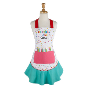 Design Imports Birthday Cake Maker Ruffled Apron