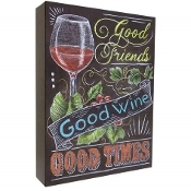 "2 Inch ""Good Times"" Design MDF Chalk Style Canvas Wall Art"