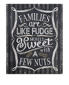 Gift Craft Families are Like Wall Sign Chalkboard