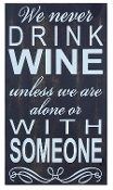 Young's Drink Wine Wood Wall Plaque, 20-Inch