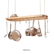 "J.K. Adams 39"" x 13"" Hardwood Ceiling Pot Rack, Natural"