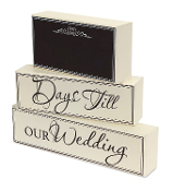 Wedding Countdown Chalkboard Plaques