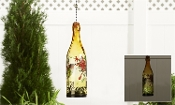 Hummingbird Glass Bottle Hanging Solar Accent Light