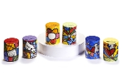 Romero Britto Ceramic Salt & Pepper Shaker set, choice of three.