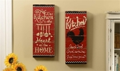 Giftcraft Kitchen Wall Sign, 2 Assorted Design Choices