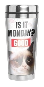 Ganz Grumpy Cat It Is Monday Travel Mug
