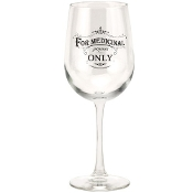 Santa Barbara Design Wine Glass, For Medicinal Purposes Only