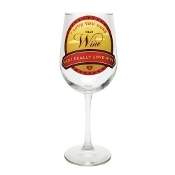 Santa Barbara Design Wine Glass, I love You More
