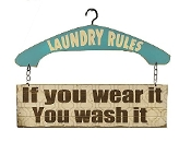 Giftcraft Laundry Rules Wall Sign