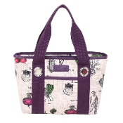 Sachi Fun Print Insulated Lunch Tote, Style 11-217, Veggies