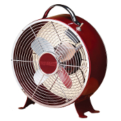 "9"" Colored Retro Metal Box Fan Merlot"