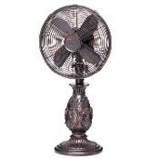 "10"" Table Fan - Fleur De Lis - Copper"