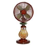 "10"" Mosaic Glass Table Fan - Ferns"