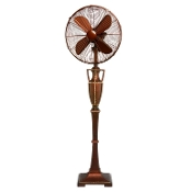 "16"" Floor Fan - Brown Leather"