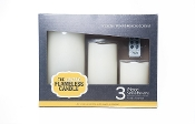 The Amazing Flameless Candle 3-Piece Smooth Candle Set w/ Remote